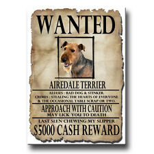 AIREDALE TERRIER Wanted Poster FRIDGE MAGNET New DOG