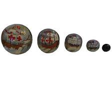 Santa Maria Ship 1492 Hand Painted Nesting Ball Columbus Unique Collectable