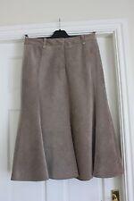 Viyella size 10 Beige Lined Fine Cord A line FlippySkirt calf length waist 28 in
