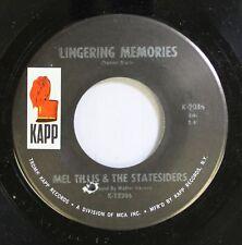 Country 45 Mel Tillis & The Statesiders - Lingering Memories / Heart Over Mind O