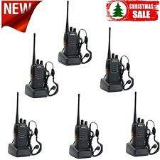 Two 2 Way Radio (Pack Of 6) Walkie Talkie Business Commercial Rechargeable US HQ