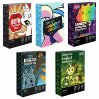 Unstable Unicorns Card Game Board 5 Expansion Packs Family Party Playing Toys US