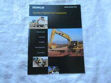 Caterpillar Cat Construction Equipment Catalog Scraper Paving Excavator Brochure