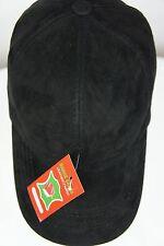 REAL GENUINE 100% Lambskin Suede Leather Baseball Cap Hat Trucker Sports Visor