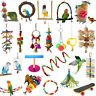 Pet Toy Swing Parrot Harness Cage Hanging Toys Bird Toy For Parakeet Cockatiel