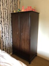 stag minstrel Double wardrobe Shelves And Drawers Great Condition Mahogany