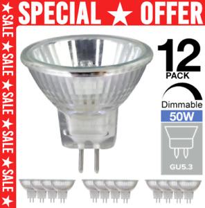 12x 50w Mains 12v GU5.3 MR16 M262 Halogen Spot Light Bulb Dimmable Dichroic Lamp
