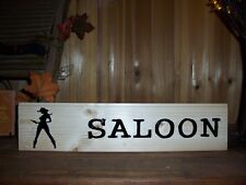 SALOON PAINTED WOODEN SIGN MAN CAVE BAR ROOM COUNTRY WESTERN WALL DECOR