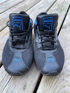 Puma Black and Blue Athletic Leather Shoes FTWRF/FVNSJ Mens Size 9