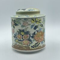 Vintage Daher Long Island Container Made in England Flowers Floral Tea Tin