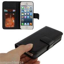Custodia a Portafoglio Nera  per iPhone 5 - Carta di Credito - FLIP Cover Case