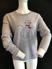 BNWT PRINGLE Ladies Catbody Intaria Grey Merino Wool Sweater Size XL (see below)