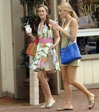 Chanel Patent Puzzle Bag Purse CC Charm Blue Large Tote Golden Chain Gossip Girl