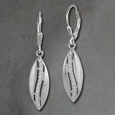 SD SilberDream Orecchini pendenti ovale zirconi bianchi argento 925 sdo369m