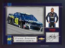 """Jimmie Johnson CHEVROLET Signé Dédicacé Imprimé Photo 13""""x10"""" NASCAR Framed"""