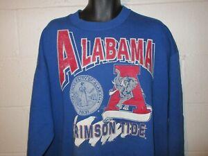 Vintage 80s 90s Alabama Crimson Tide Distressed Sweatshirt 2XL