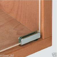 1 Pair x Glass Door Pivot Hinges 110º For Cabinet Inset Door Chrome or Black