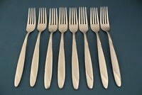 8 Salad Forks Oneida RISOTTO Stainless Satin Handle 6 3/4""