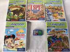 Lot 0f 6 Leap Frog Leapster Games: I Spy, Nihao, Digging, Spongebob, Outwit etc
