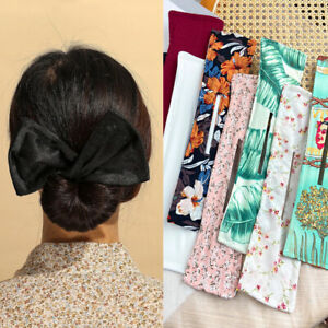 1PC Lazy Hair Curler Bow Hairpin Print Hair Clip Clamp Device Band Headband NEW