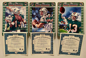 *Lot of 3 Dan Marino Bradford Exchange Collector Plate Set Dolphins Mint Cond.