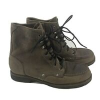 Bed Stu Mens Chukka Boots Gray Genuine Leather Distressed Lace Up Size 10