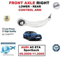 FRONT AXLE RIGHT LOWER REAR TRACK CONTROL ARM for AUDI A5 8TA 09.2009-11.2009