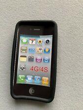 Rubber Gel Case Skin For Iphone 4 4S Soft Flexy Bumper Cover Black