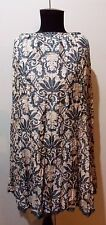 AS NEW Size 10 Verge Grey & Cream Fully Lined Crinkle Silk Skirt