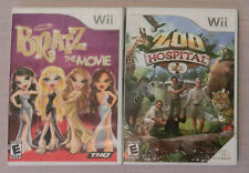 Lot of 2 Nintendo Wii Games Zoo Hospital & Bratz the Movie