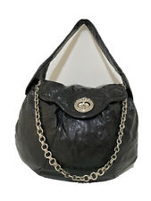 MARC BY MARC JACOBS  hand/shoulder tote Bag hobo glossy black leather EX COND