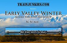 "TrainJunkies N Scale ""Early Valley Winter"" Backdrop 18x80"" C-10 Brand New"