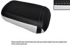 Blanco & Negro Custom encaja Honda Vtx 1800 02-04 Trasera de piel cubierta de asiento