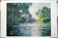 Postcard Art Claude Monet Les Bords de la Seine a Giverny - posted 1993