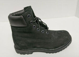 """Timberland Premium 6"""" Boots, Black Leather, Women's 7 Wide"""