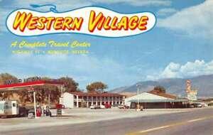 Mesquite Nevada Wetern Village Street View Vintage Postcard K97872