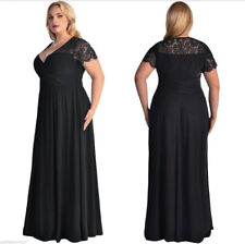 2018 Women's Plus Size  High Waist Evening Cocktail Gown Long Maxi Lace Dress M7