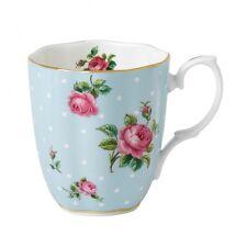 Royal Albert Polka Blue Mugs, Set of 4