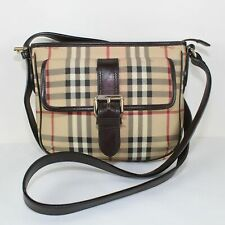 Authentic BURBERRY Brown Plaid Crossbody Bag