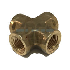BRASS PIPE CROSS FORGED 4 Way Fitting 1/8