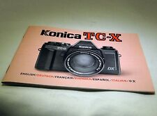 Konica Tc-X Camera Manual Guide Instruction 47 pages English Francais Espanol