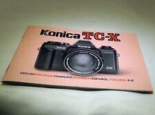 Konica TC-X Camera Manual Guide Instruction 47 pages English Francais Espanol