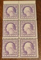 Scott#: 501b - Washington, George  Booklet Pane of 6 MLH OG