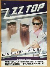 ZZ TOP 1986 Nuremberg-orig. Concert Poster -- CONCERT AFFICHE a1 NEUF