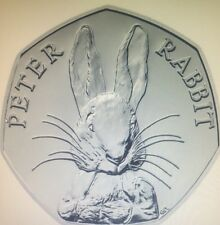 Peter Rabbit 150th, Anniversary 50 Pence Coin .UNCIRCULATED