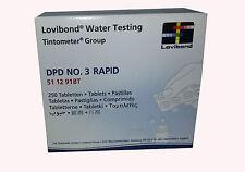 Recambio tabletas reactivo medición Cloro Total DPD 3 250 U Rapid/Manual
