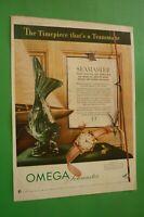 1954 Original Advertising' Watch Omega Seamaster The Timepiece