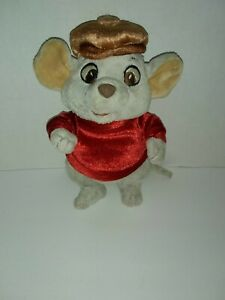 "Disney Store The Rescuers Bernard Mouse Plush 7"" Tall"