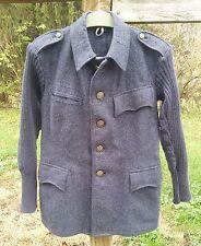 Vintage Switzerland Military Grey Wool Winter Coat w/ Tactical Sweater Sleeves