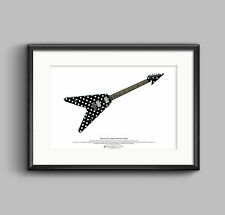 Randy Rhoads' Sandoval Polka Dot Flying V ART POSTER A3 size